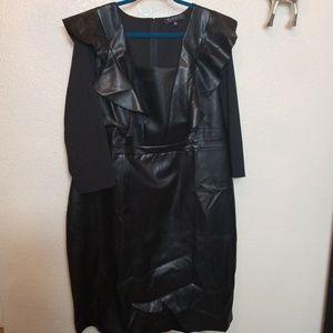Eloquii faux leather dress